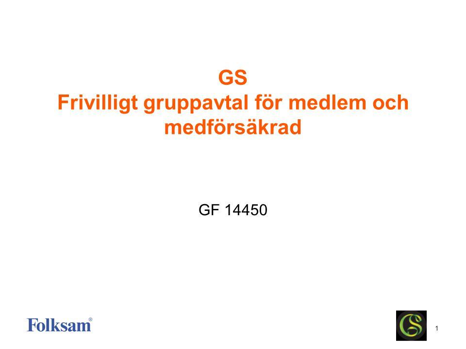 GS Frivilligt gruppavtal för medlem och medförsäkrad