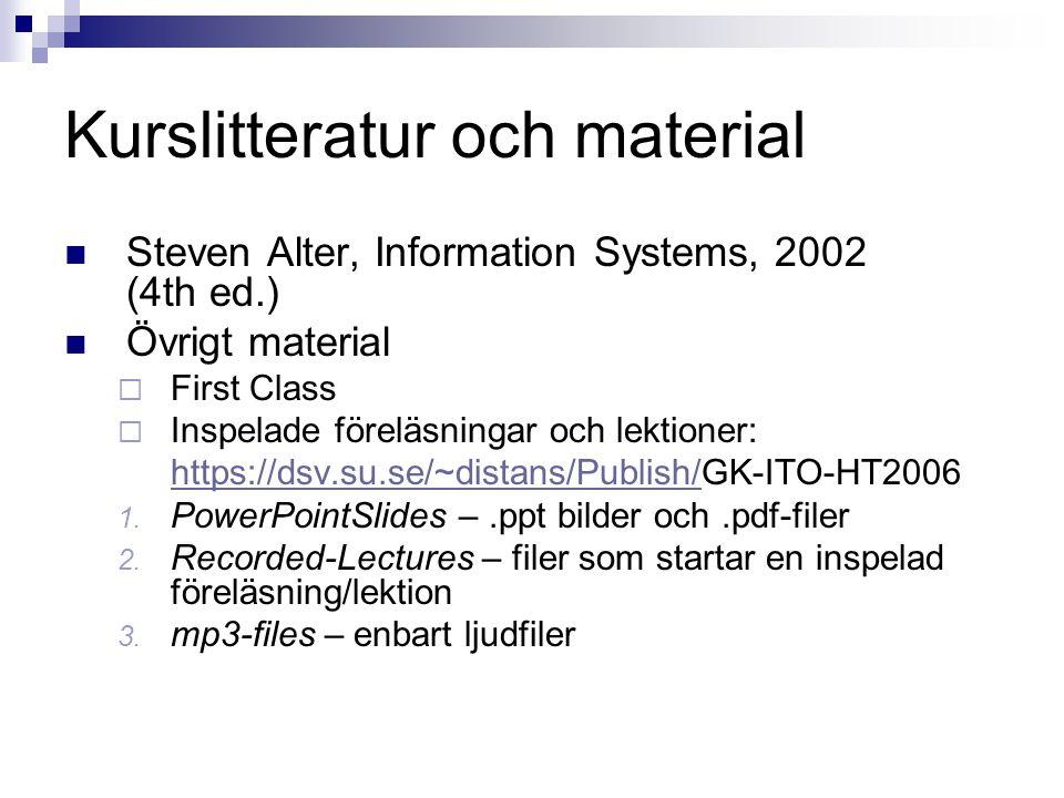 Kurslitteratur och material