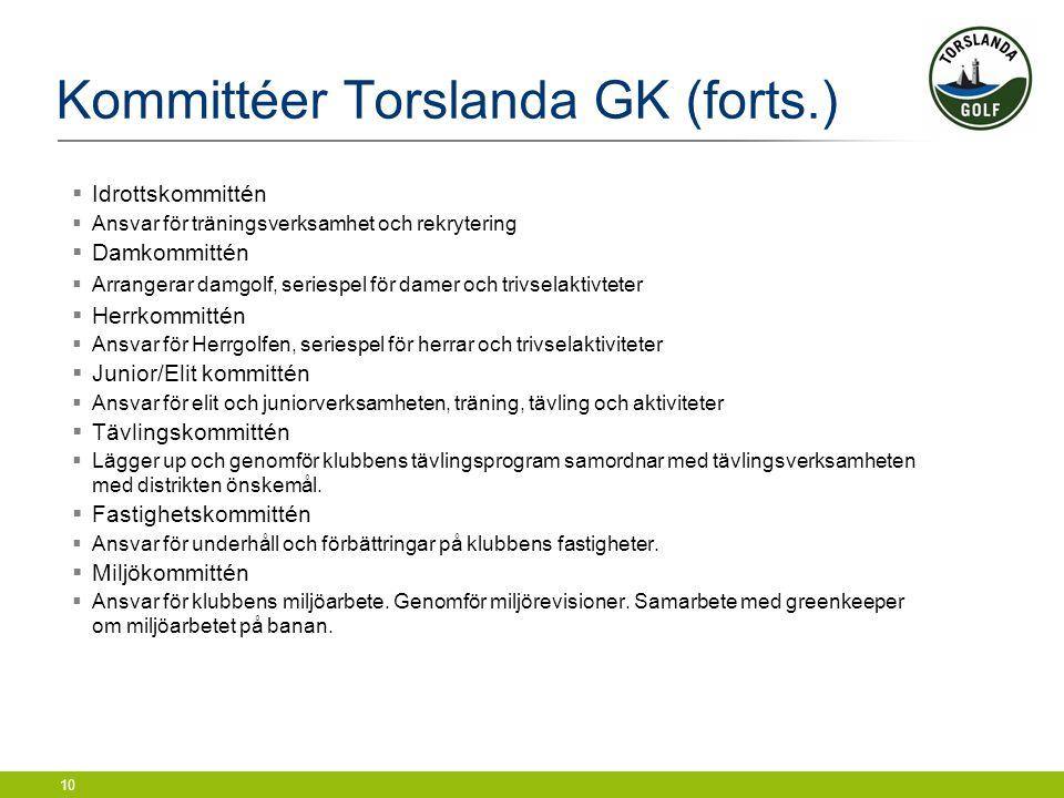 Kommittéer Torslanda GK (forts.)