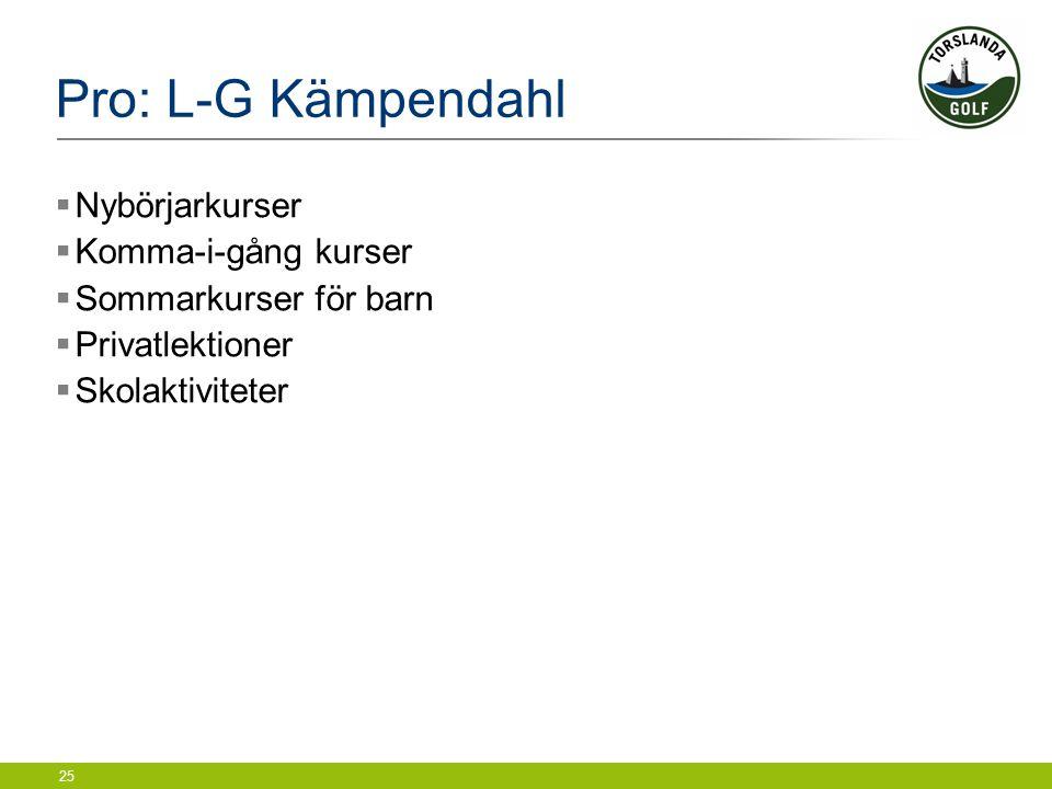 Pro: L-G Kämpendahl Nybörjarkurser Komma-i-gång kurser