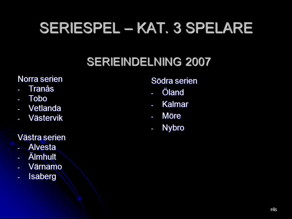 SERIESPEL – KAT. 3 SPELARE