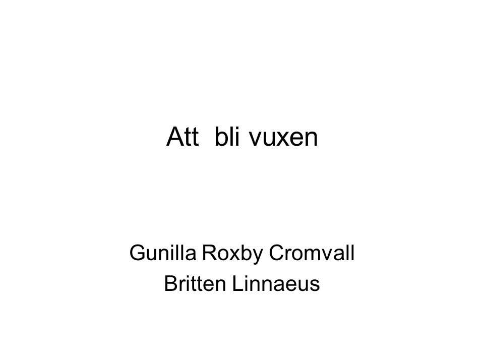 Gunilla Roxby Cromvall Britten Linnaeus