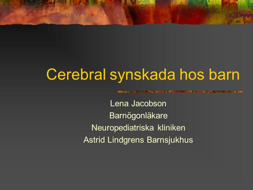 Cerebral synskada hos barn