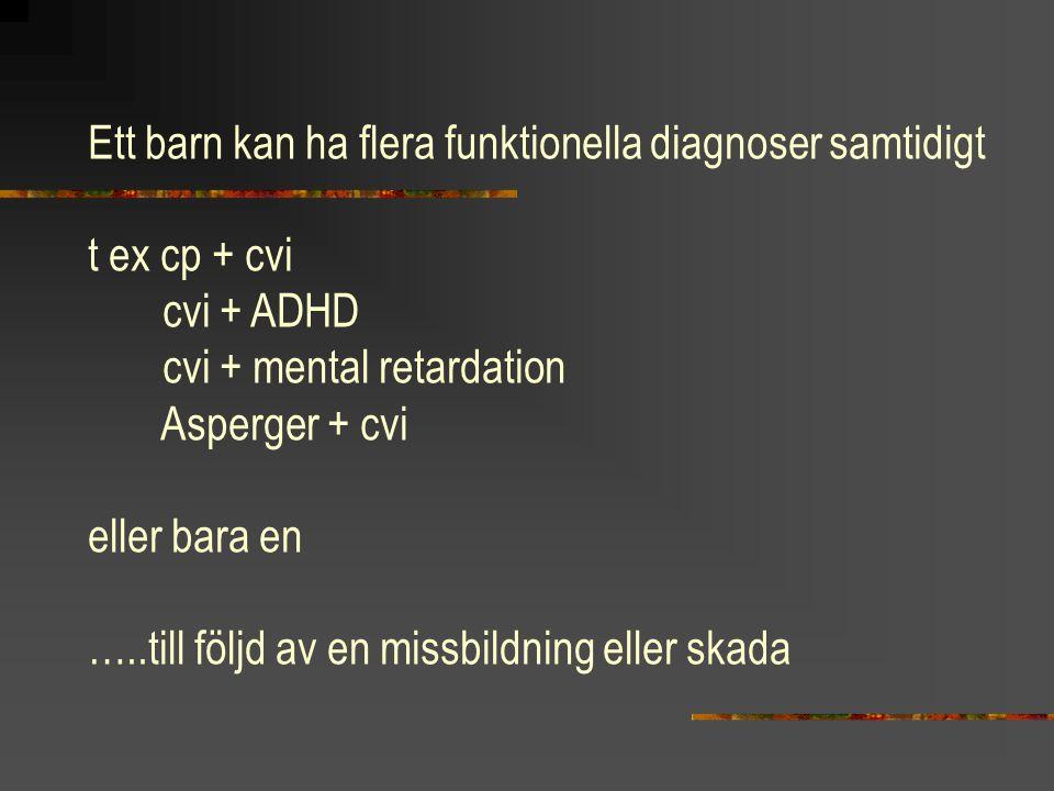 Ett barn kan ha flera funktionella diagnoser samtidigt
