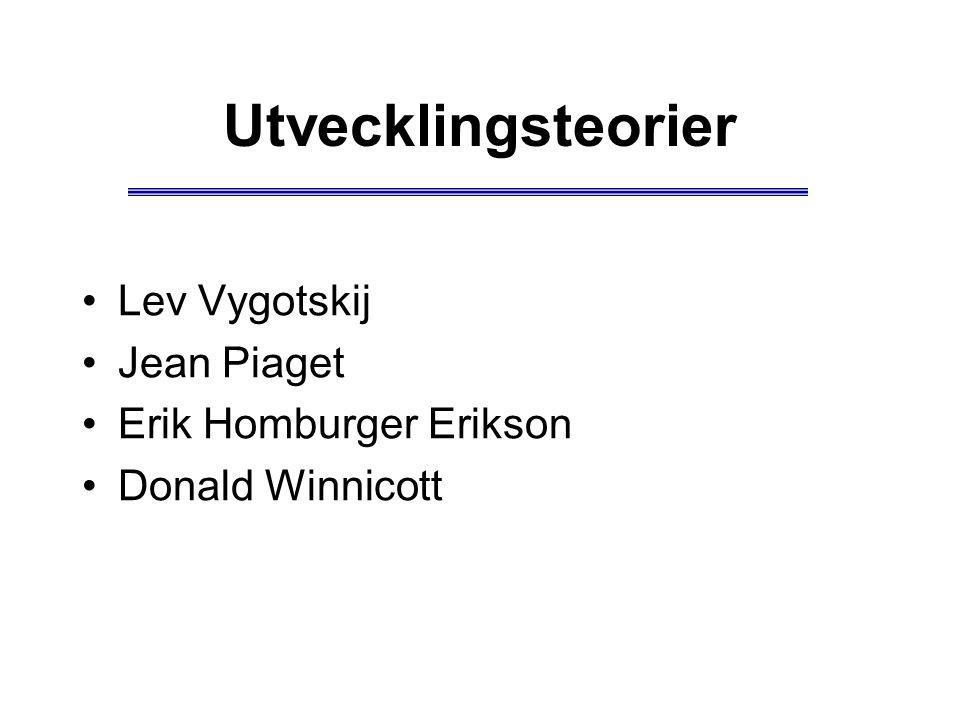 Utvecklingsteorier Lev Vygotskij Jean Piaget Erik Homburger Erikson