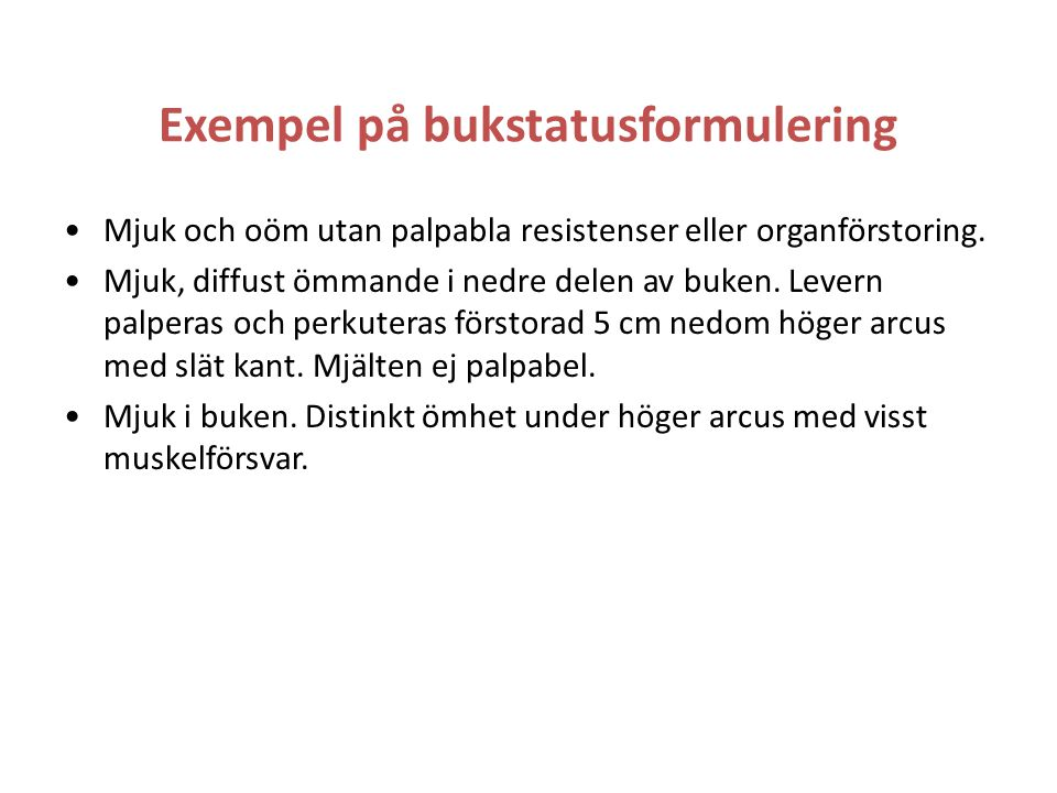 Exempel på bukstatusformulering
