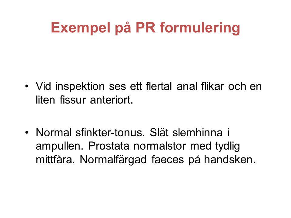Exempel på PR formulering