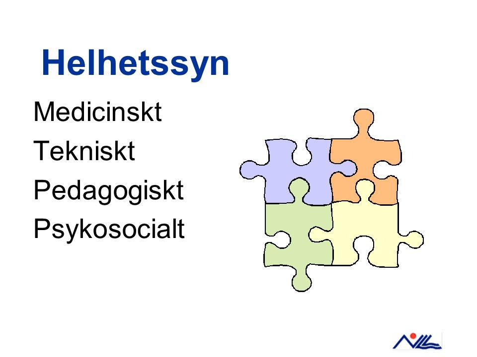 Helhetssyn Medicinskt Tekniskt Pedagogiskt Psykosocialt