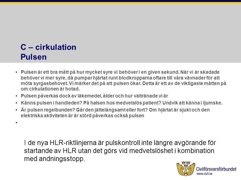 C – cirkulation Pulsen
