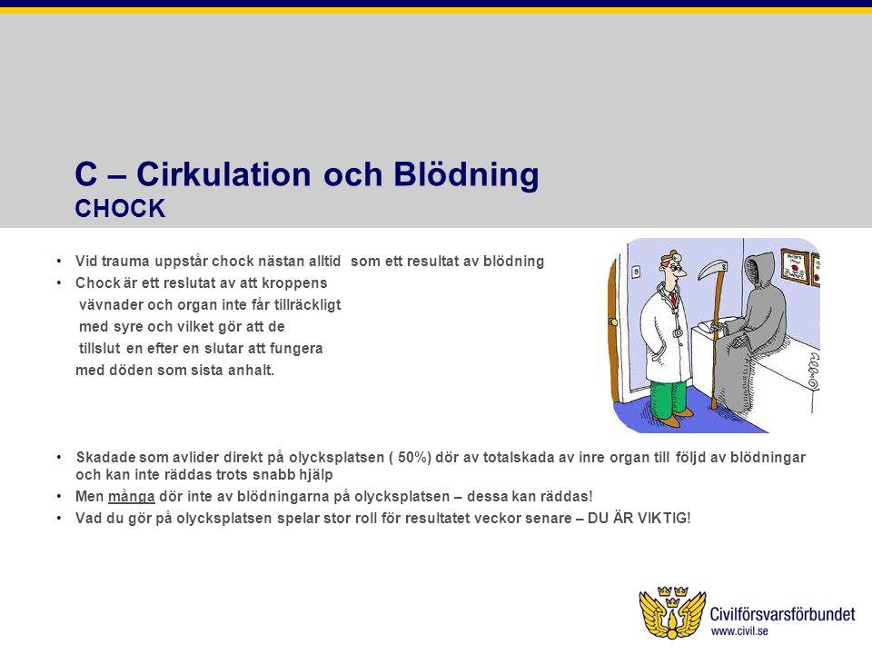 C – Cirkulation och Blödning CHOCK