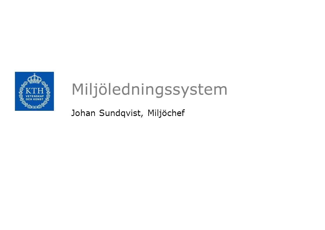 Johan Sundqvist, Miljöchef