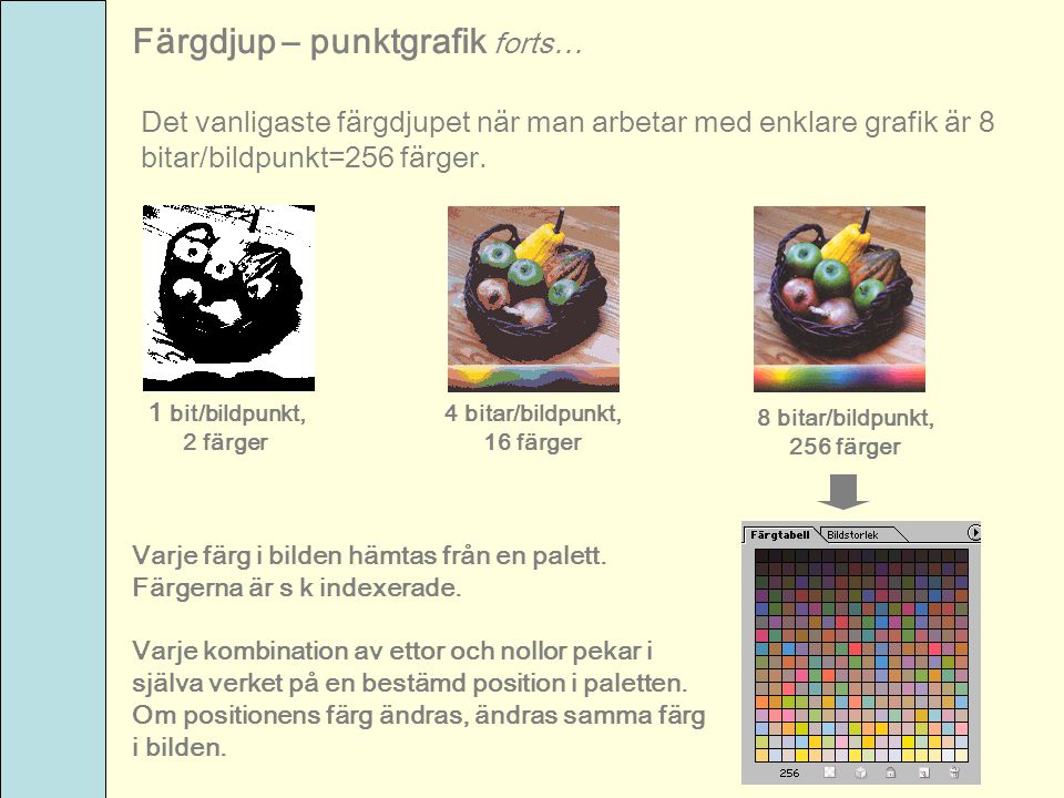 Färgdjup – punktgrafik forts…
