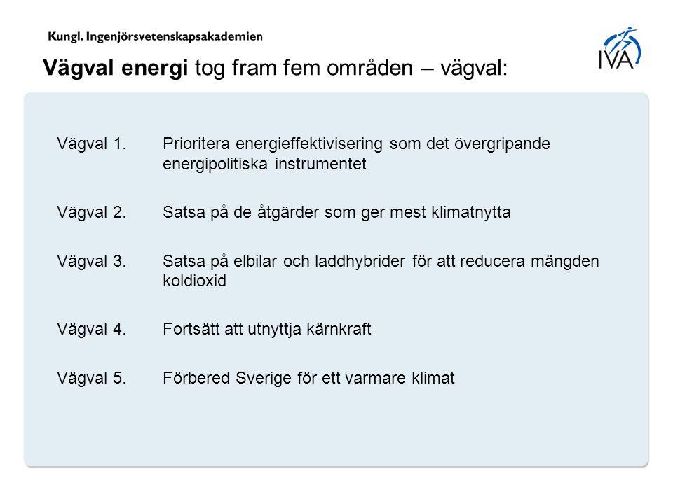 Vägval energi tog fram fem områden – vägval: