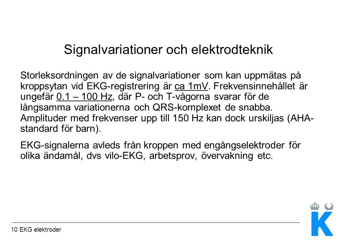Signalvariationer och elektrodteknik