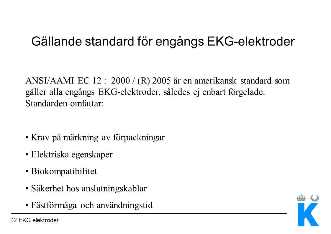 Gällande standard för engångs EKG-elektroder