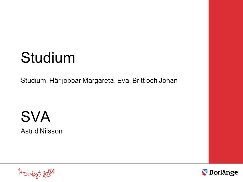 Studium SVA Studium. Här jobbar Margareta, Eva, Britt och Johan