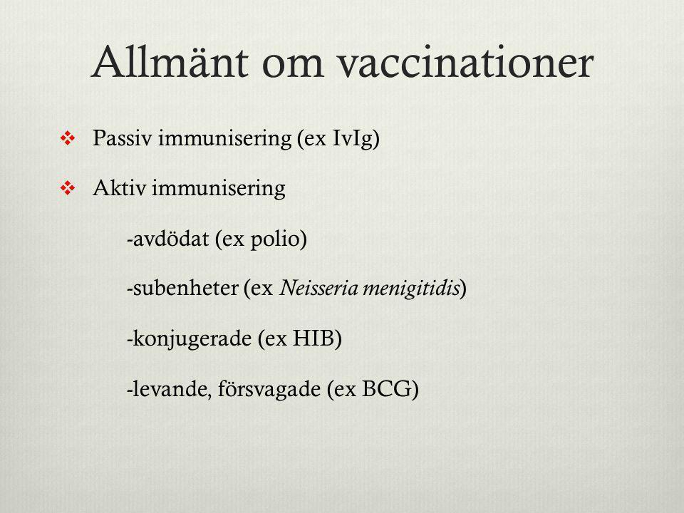 Allmänt om vaccinationer