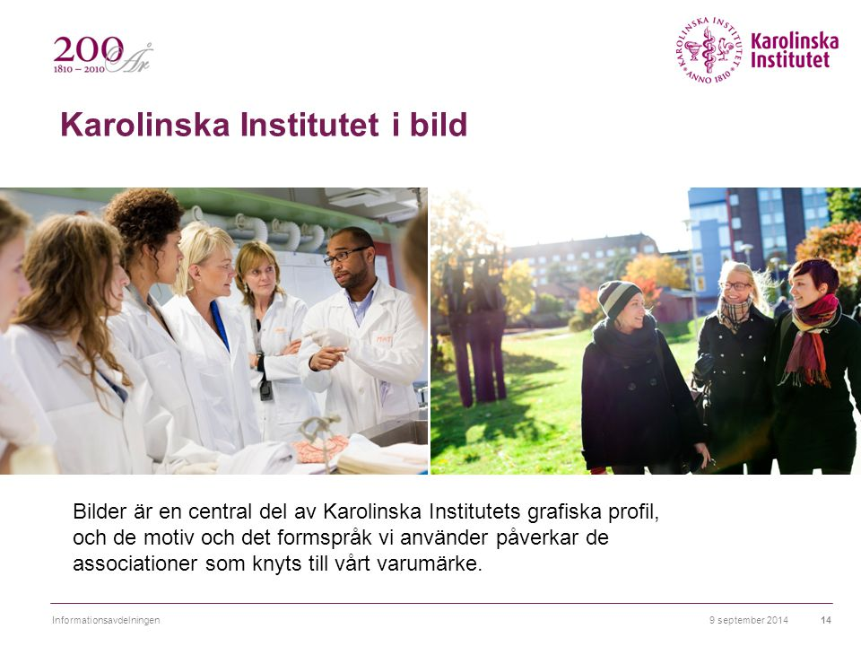 Karolinska Institutet i bild