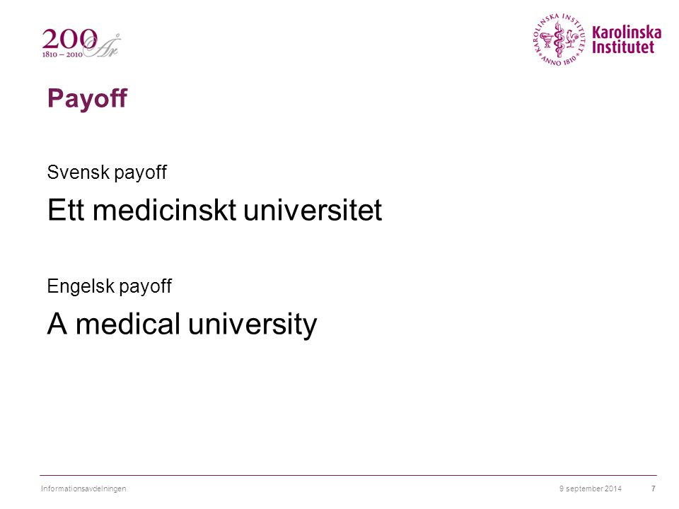 Ett medicinskt universitet