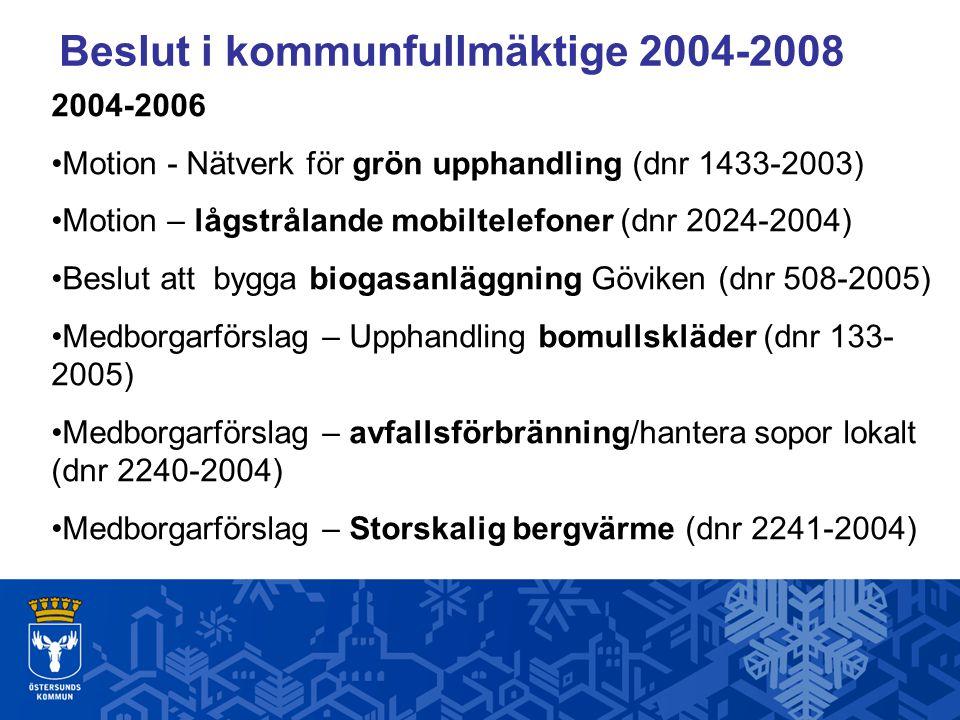 Beslut i kommunfullmäktige 2004-2008
