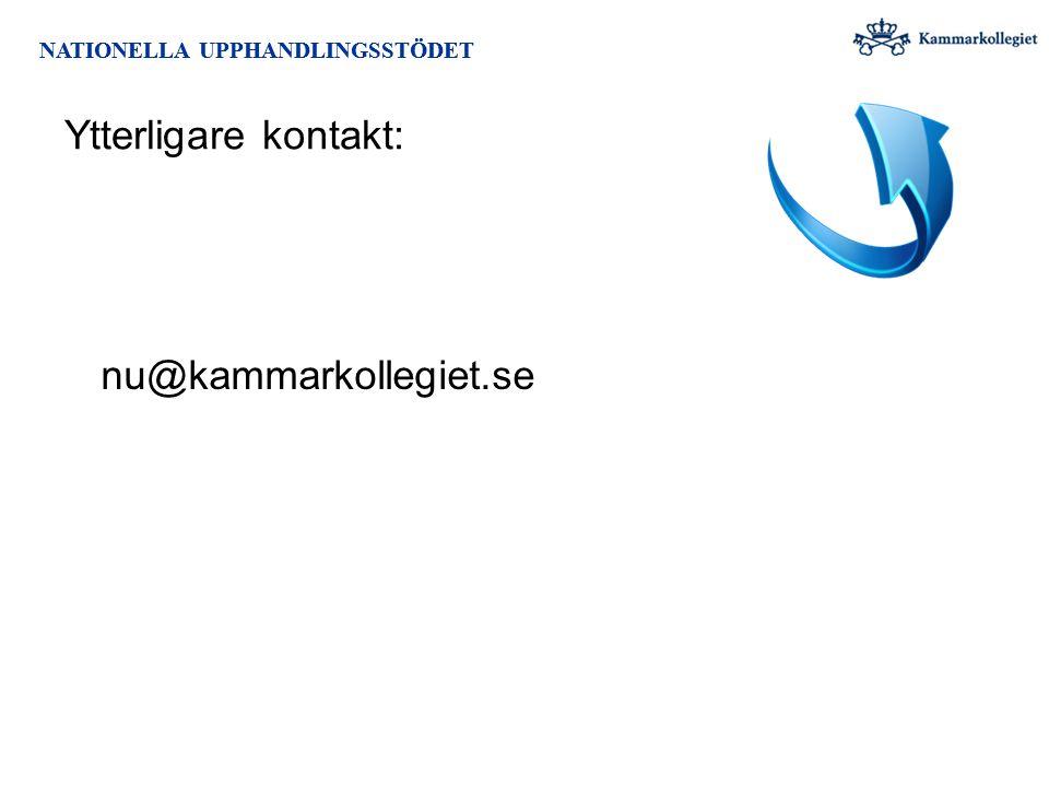 Ytterligare kontakt: nu@kammarkollegiet.se