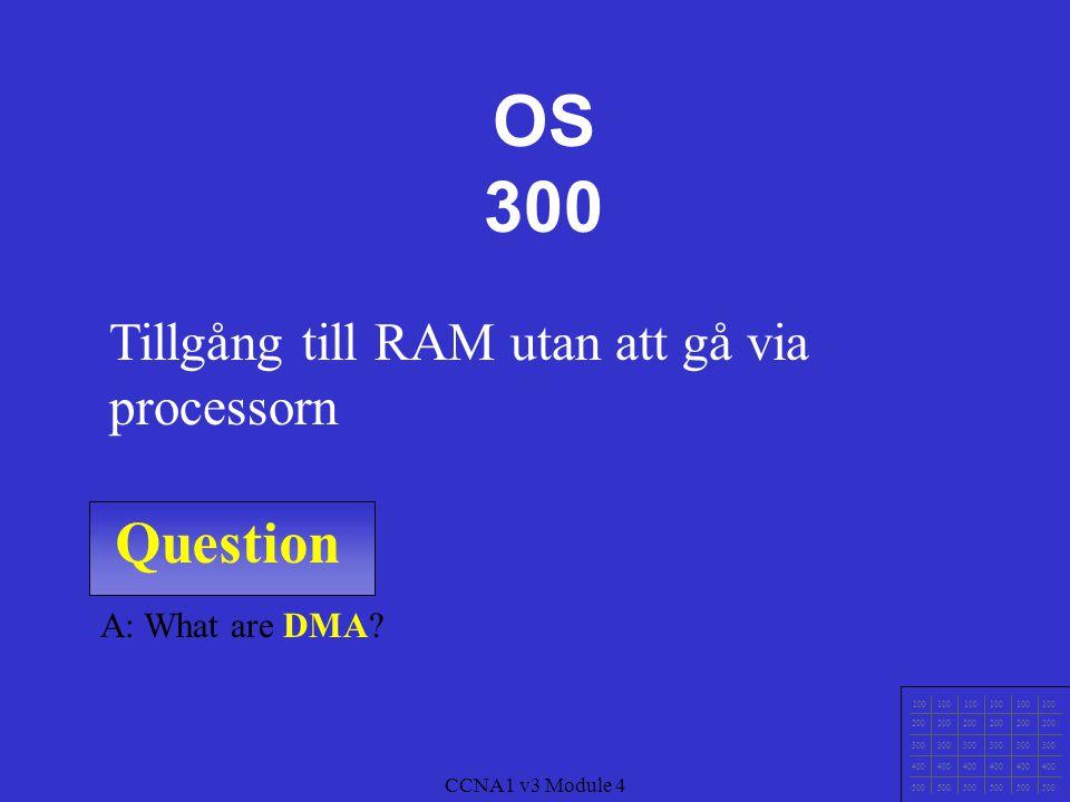 OS 300 Question Tillgång till RAM utan att gå via processorn