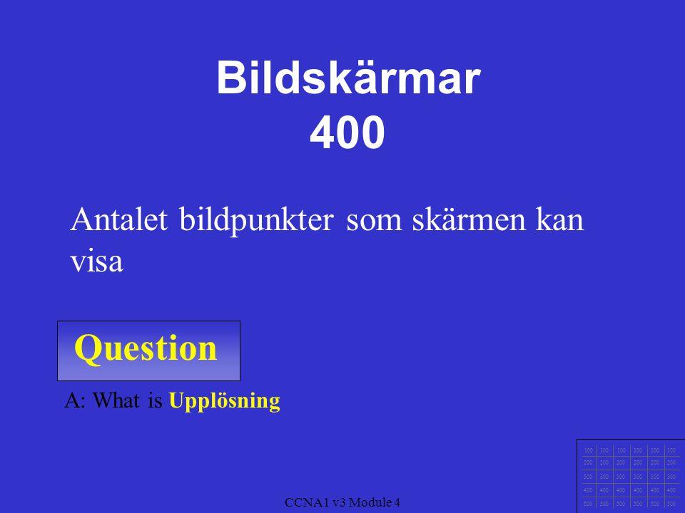 Bildskärmar 400 Question Antalet bildpunkter som skärmen kan visa