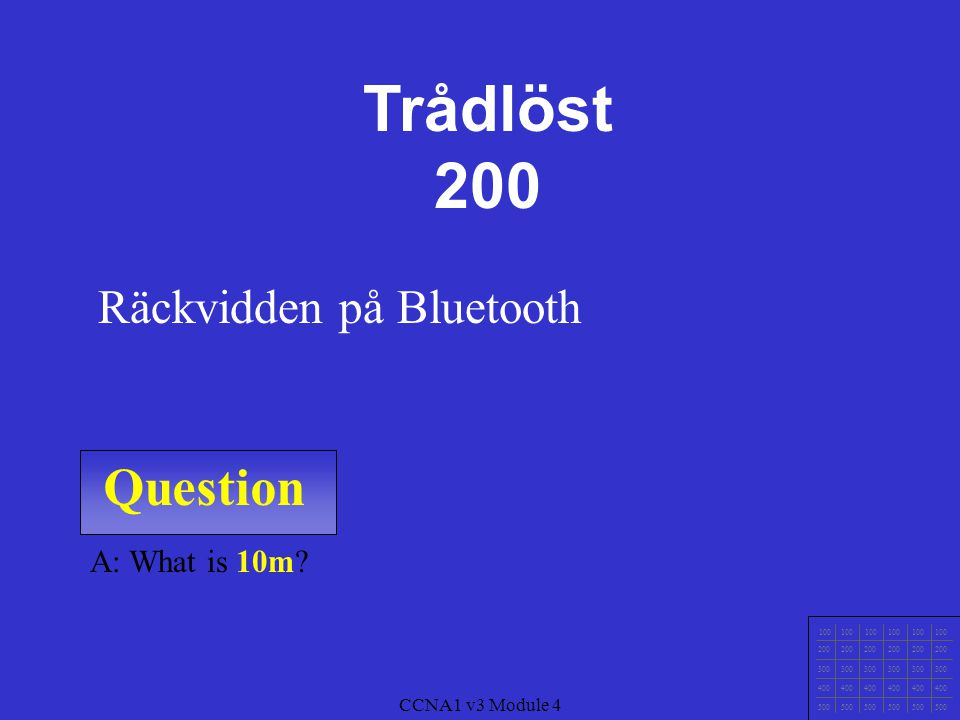 Trådlöst 200 Question Räckvidden på Bluetooth A: What is 10m