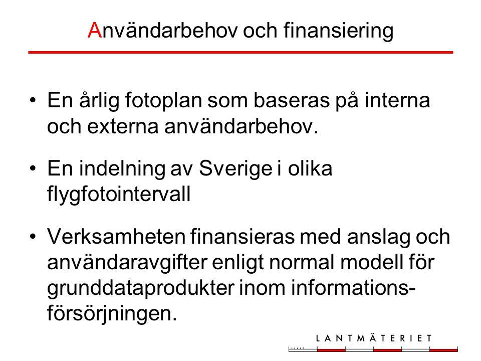 Användarbehov och finansiering