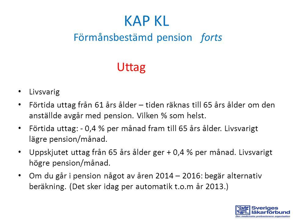 KAP KL Förmånsbestämd pension forts