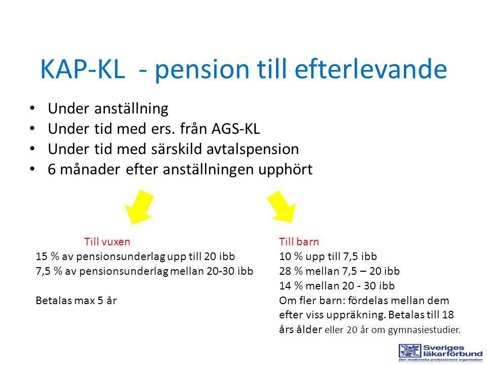 KAP-KL - pension till efterlevande