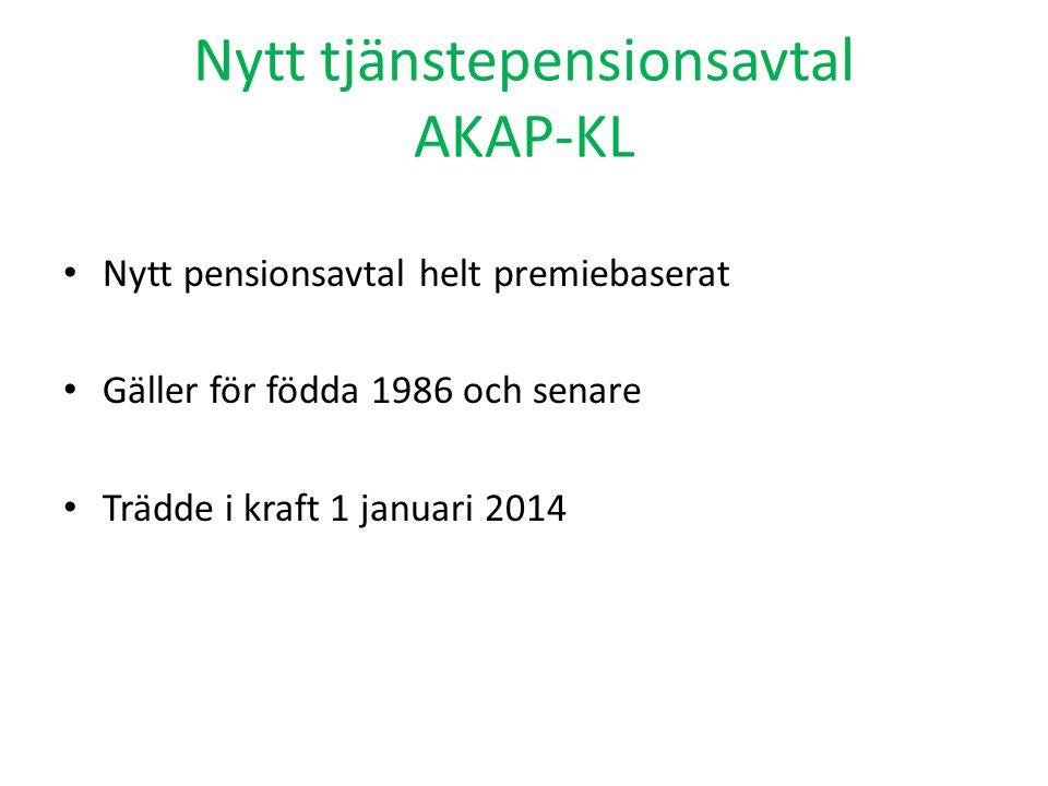 Nytt tjänstepensionsavtal AKAP-KL
