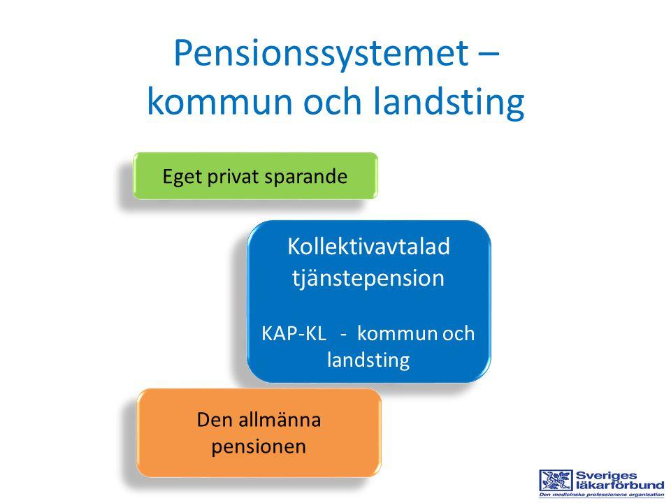 Pensionssystemet – kommun och landsting