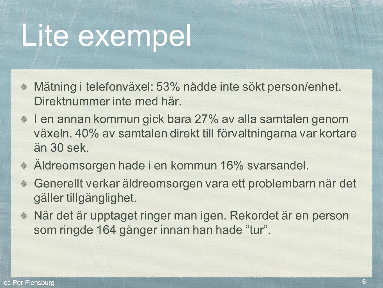 Lite exempel Mätning i telefonväxel: 53% nådde inte sökt person/enhet. Direktnummer inte med här.
