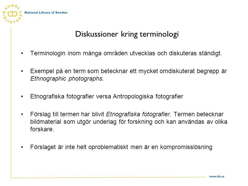 Diskussioner kring terminologi