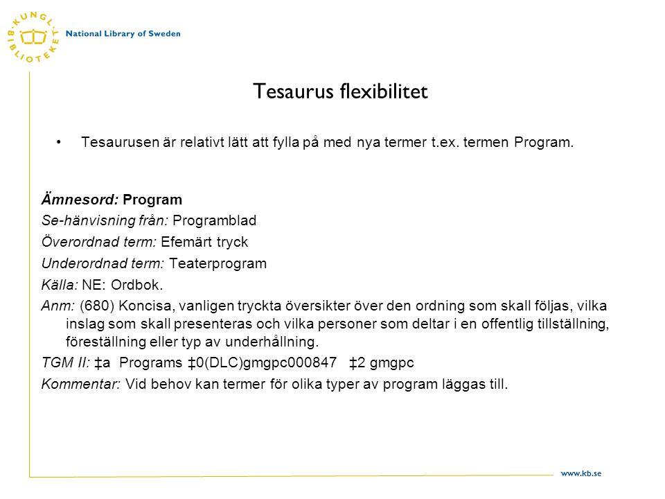 Tesaurus flexibilitet