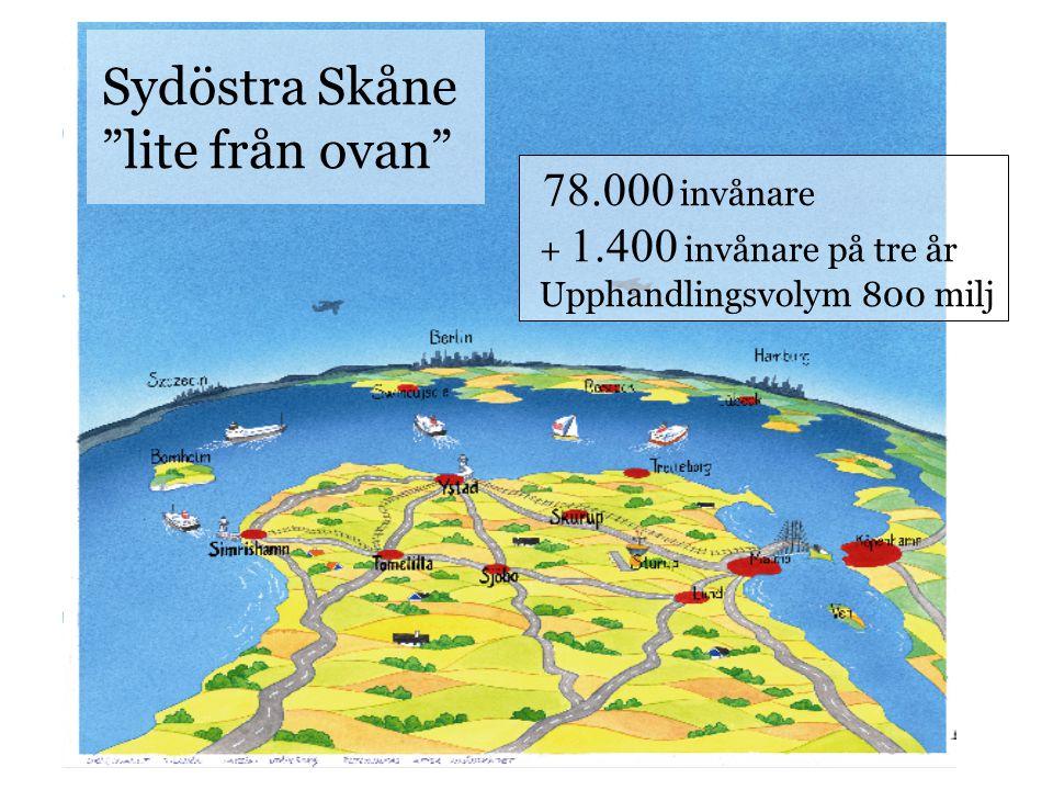 Sydöstra Skåne lite från ovan