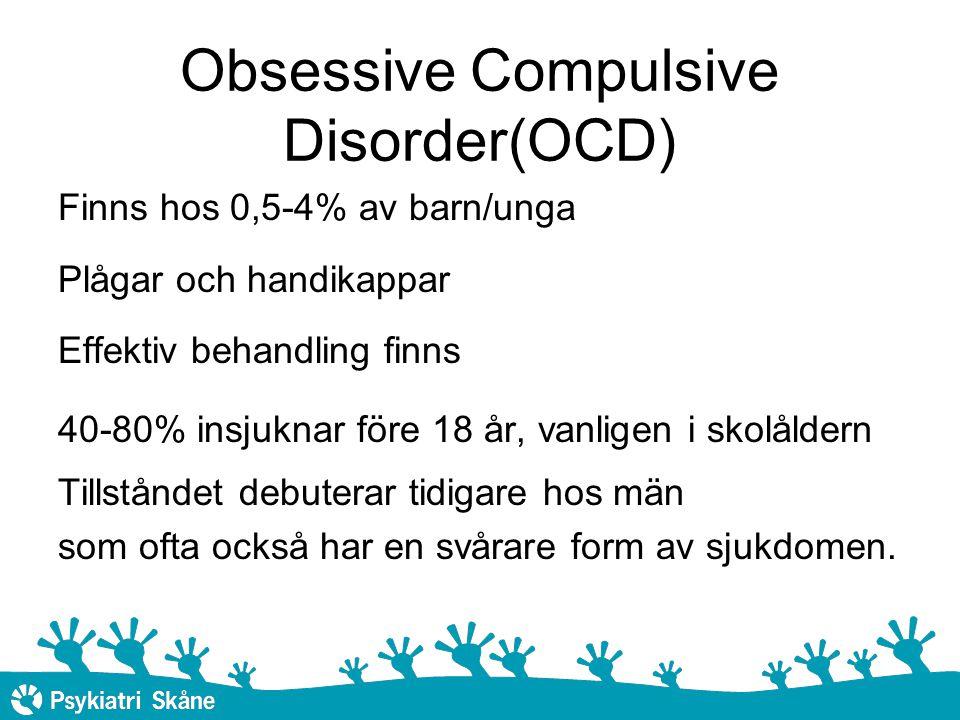 Obsessive Compulsive Disorder(OCD)
