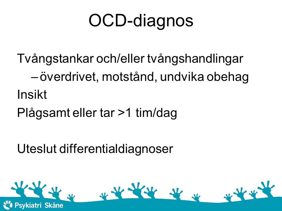 OCD-diagnos Tvångstankar och/eller tvångshandlingar