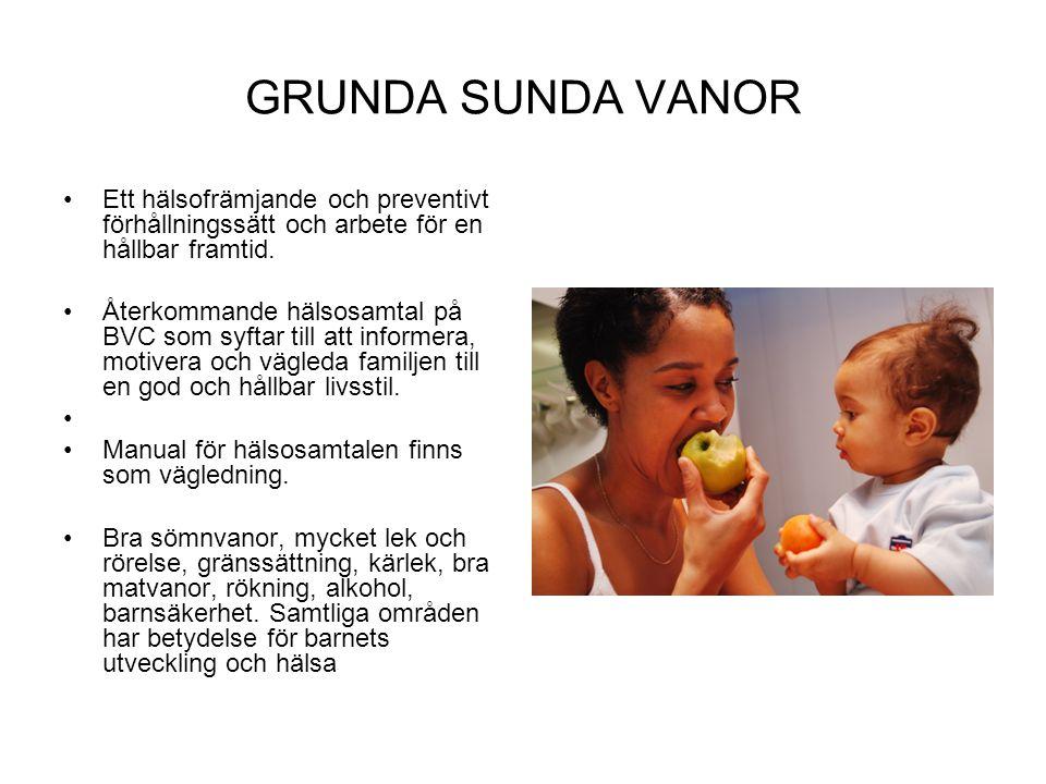 GRUNDA SUNDA VANOR Ett hälsofrämjande och preventivt förhållningssätt och arbete för en hållbar framtid.