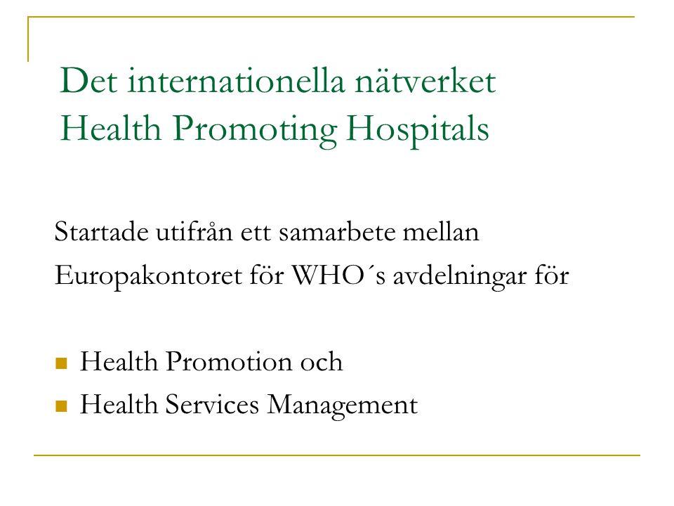 Det internationella nätverket Health Promoting Hospitals