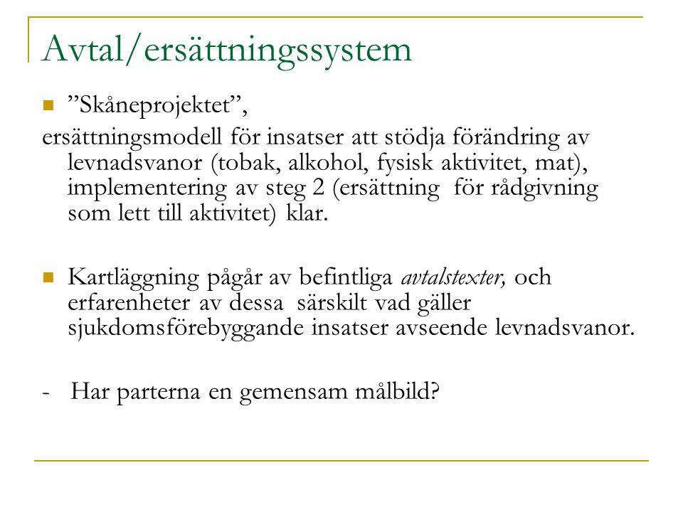 Avtal/ersättningssystem