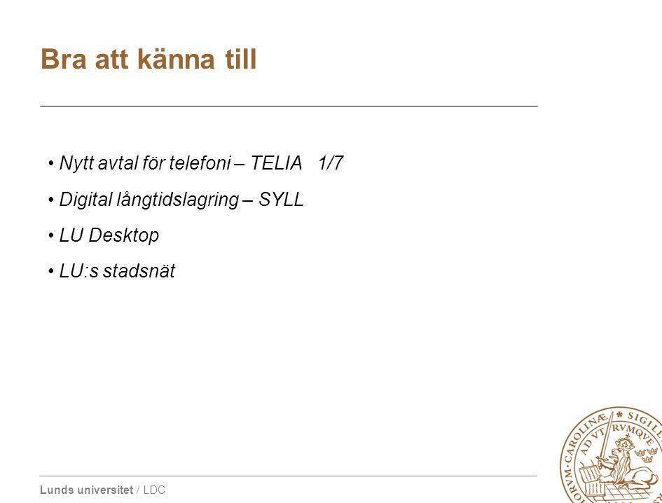 Bra att känna till Nytt avtal för telefoni – TELIA 1/7