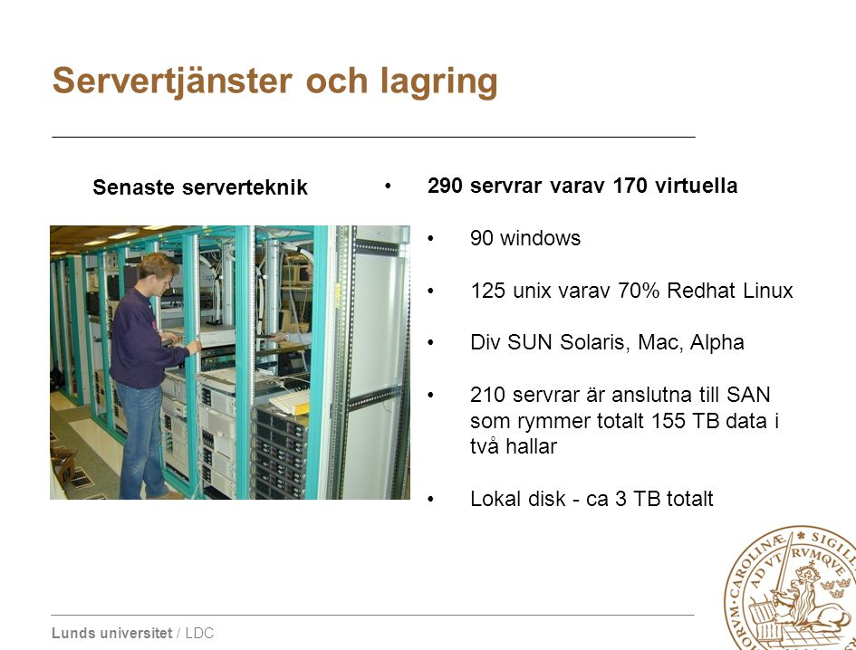 Servertjänster och lagring