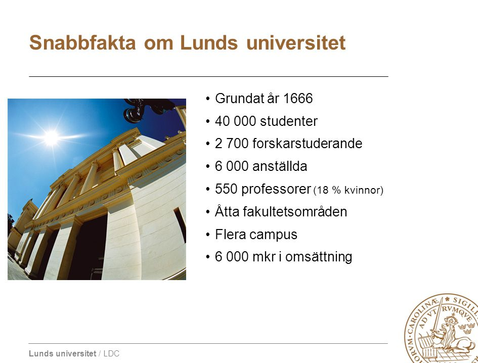 Snabbfakta om Lunds universitet