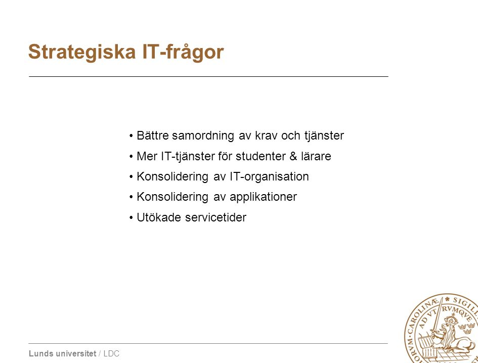 Strategiska IT-frågor