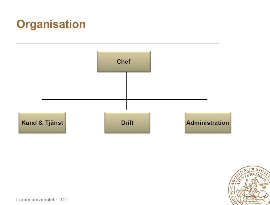 LDC organisation 2009 Organisation Drift Administration Kund & Tjänst