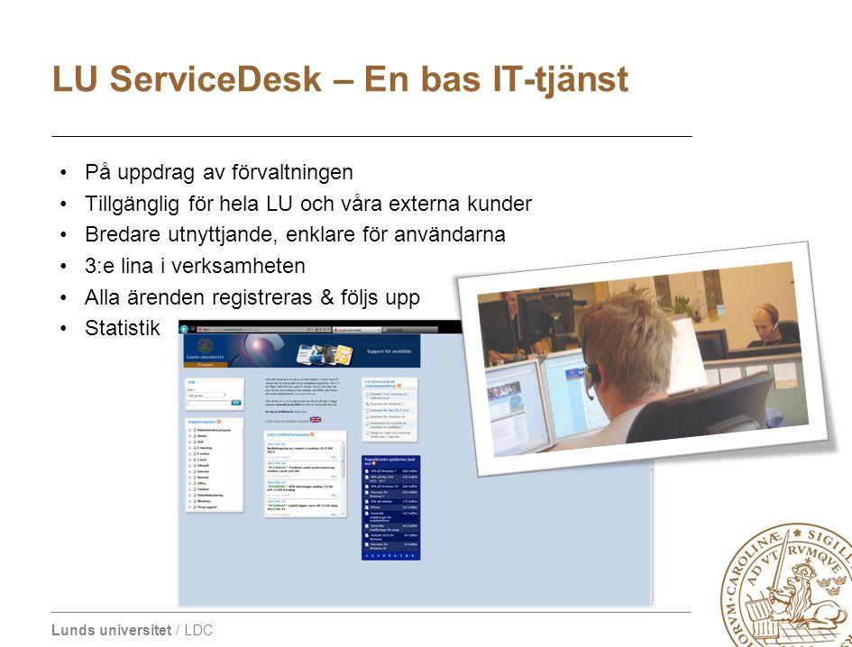 LU ServiceDesk – En bas IT-tjänst