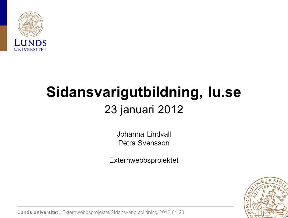 Sidansvarigutbildning, lu.se