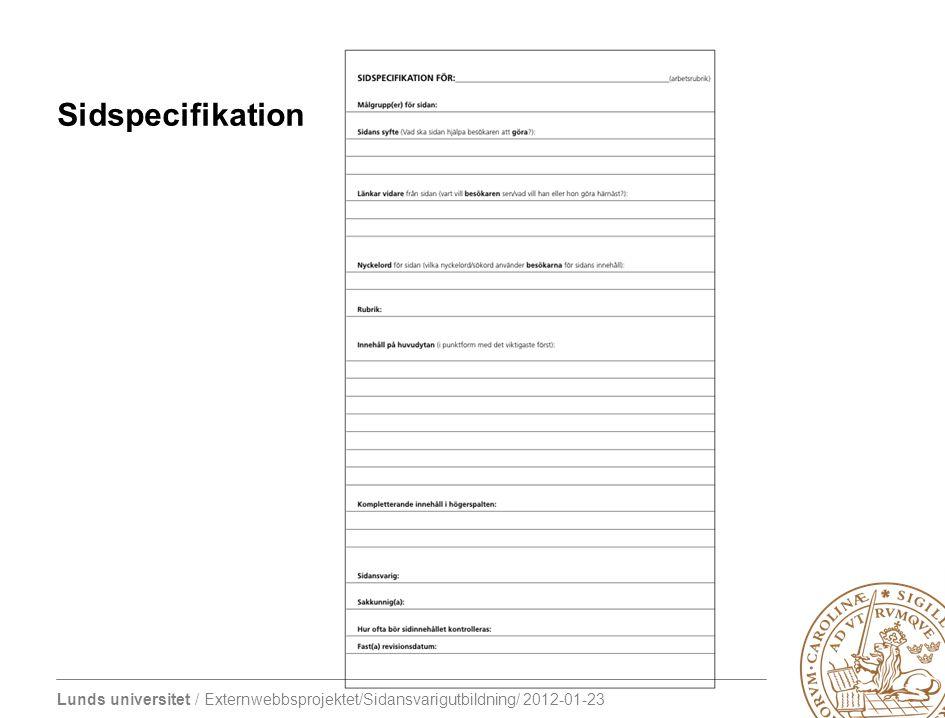 Sidspecifikation Petra